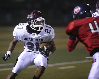 ROBERT  K.  YOSAY  | THE VINDICATOR --...Boardman battled  Fitch at Fitch Stadium Friday Night as the Regular season drew to a close -.... -30-(AP Photo/The Vindicator, Robert K. Yosay)
