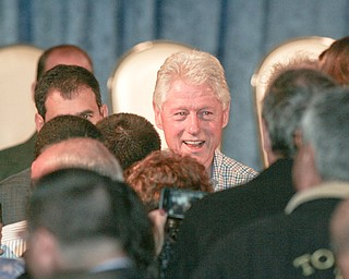 ROBERT  K.  YOSAY  | THE VINDICATOR --...Former President Bill Clinton visited the Mahoning County Democrats annual breakfast Saturday morning in Youngstown..The former president was stumping for democratic hopefuls in state and congressional races here in Ohio .... -30-(AP Photo/The Vindicator, Robert K. Yosay)