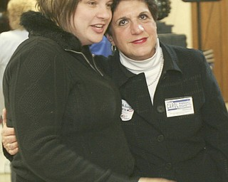 ROBERT  K.  YOSAY  | THE VINDICATOR --..Easy Winner - Carol Rimedio Righetti celebrates with her relative  Sophia Righetti -The November election had many incumbents and levies pass.... -30-..(AP Photo/The Vindicator, Robert K. Yosay)