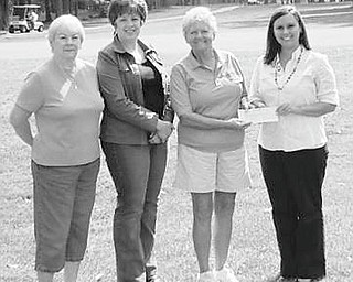 During a community golf event on Sept. 11 at Bedford Trails Golf Course, 136 golfers chipped in $4,202 to benefit the American Cancer Society. The funds will be earmarked for breast cancer and prostate cancer research and education programs. The Answer to Cancer Golf Outing was planned in memory of Irene Nock and Joe Pollock. Committee members were, from left, Marilyn Johnson, Chris Partika, Lynne Grischow and Bridgett Ford of the ACS. The other committee member was Sherry Giovanni, not pictured. Plans are already under way to sponsor another golf outing as a benefit for the ACS on Sept. 10, 2011.