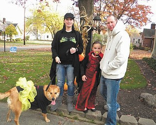 Allison, Madalyn, Brad and Bullesye Smith of Boardman are ready to hit the trick-or-treat trail. Photo submitted by Patty Hoover.