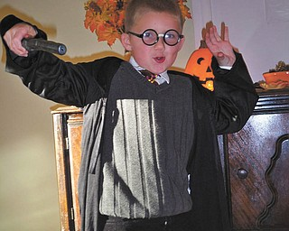 Six-year-old Aaron Slanina of Youngstown is ready for a Halloween spell or two dressed as Harry Potter. His mom, Christie Slanina, sent in this photo of her little Hogwarts fan.