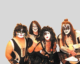 Here's local KISS tribute band Kissed Off all dressed up for a Halloween concert. From left, band members are Dale Kushma, Adam Shuntich, Dean Pagnotta and George Allen. Photo submitted by Dean Pagnotta.