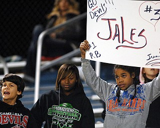 Students cheer for their favorite players.