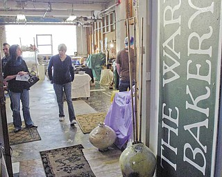 Numerous local artists displayed their work at the annual Holiday  Open studio and Art Sale in the Ward Bakery Building Sunday.