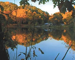 "Lana VanAuker of Canfield calls her shot, ""The Mirrow of Mill Creek."""
