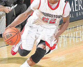 YSU's Devonte Maymon at Beeghly Center on Tuesday evening.