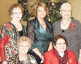 Prepared to serve as officers of the Niles Chapter of the American Sewing Guild in 2011 are, in front from left, Joan Dales and Diane Wittik, and, in back, Jennie Roberts, Barbara Rosier-Tryon and Lynn Price.