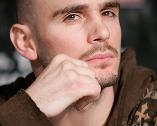 "Kelly ""The Ghost"" Pavlik during a news conference in Beverly Hills, Calif. Monday, Feb. 11, 2008."