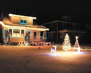 Dave Messersmith's front yard in Youngstown boasts a festive holiday display.