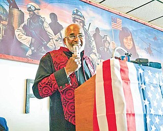 Reverend Clifford Kimbrough, of Mt. Gilead Baptist Church gives the keynote speech at the Dr. Martin Luther King Jr. Luncheon held by VFW post 6488 and the Ladies Auxilary.