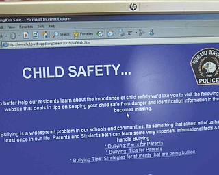 Child Safety is one of many topics featured on the township's website. Information on current issues such as bullying, cyberbullying and sexting also may be accessed.