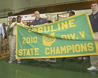 ROBERT K. YOSAY | THE VINDICATOR..also at the maxpreps award the banner for the 2010 season was unveiled by Dan Reardon - Akise Teague Zach Conlin and   Paul KempYoungstown Chaney - w/ Denise Dick... Ó--30-..