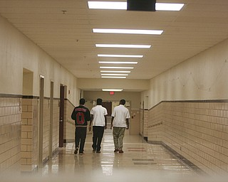 ROBERT K. YOSAY | THE VINDICATOR..Students walk  the halls - on their way to class at Youngstown Chaney - w/ Denise Dick... Ó--30-..