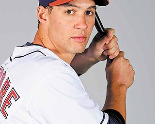 This is a 2010 photo of Grady Sizemore of the Cleveland Indians baseball team. This image reflects the Cleveland Indians active roster as of Sunday, Feb. 28, 2010 when this image was taken.