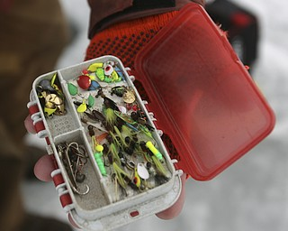 ROBERT K. YOSAY | THE VINDICATOR..Ice Fishing is cool - what to fish with has Jim Bakalar of Poland has made many of his own lures to ice fish with... Ó--30-..