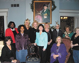 Committee members involved in preparing for the Trumbull County Women's History dinner celebration on March 29 are, standing, from left, Tamara Cooper, Kenya Howard, Jennifer Wyndham, Julie Vugrinovich, Renee Maiorca, Esther Gartland, Roz Jackson, Theresa Salcone and Judie Hartley, and seated, Stephanie Furano and E. Carol Maxwell, event chairwoman. Committee members also assisting but not pictured are Martha Ellers, Cynde Kennedy and Ann Penman.