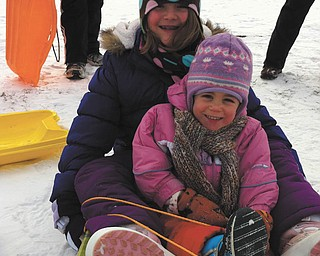 Rachel Beil and her little cousin love snow!