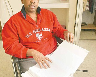 43-year-old Adrien German has been a resident of the Orange Village Care Center in Masury since August 2008. He is part of a growing population of nursing home residents under 65 in facilities across the country.