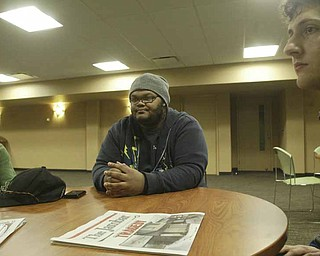 Youngstown State University student Dezmond Riley talks about a weekend shooting that killed one student and injured several others at an off-campus party. Riley described the mood on campus as dim.