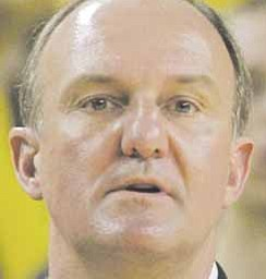 Ohio State head coach Thad Matta is seen during the first half of an NCAA college basketball game against Michigan in Ann Arbor, Mich, Wednesday, Jan. 12, 2011.