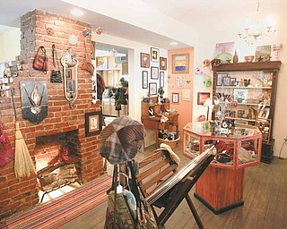 """Stepping through the door at 29 Logan Ave., """"A Little Gallery on the West Hill."""" The gallery, just west of downtown Sharon, is a mecca for handmade art deco, all made by the talented area artists."""