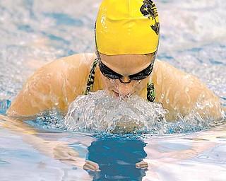 McDonald's Katie Joseph during practice Wednesday at the Warren Harding High School pool