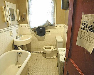 A  bathroom in Hope House in Youngstown.