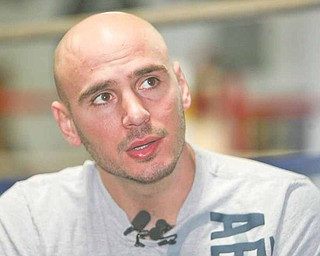 Boxer Kelly Pavlik talks to the media about his past couple of months in rehab and his future at Jack Loew's Southside Boxing Club.