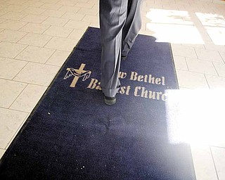 """New Bethel Church uses a """"buzz-in"""" system to enter the office and church through its Cleveland Street side. All visitors must be """"buzzed in"""" to enter when the church isn't open for services or an event."""