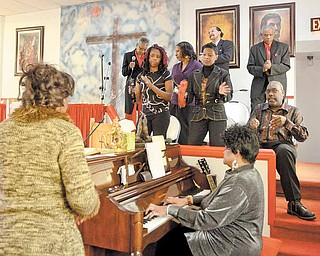 Members of the Beulah gospel choir perform during a Talent show held Sunday afternoon at Beulah Baptist Church in Youngstown.