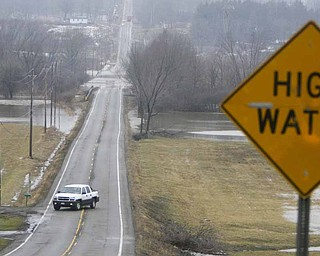 A combination of melting snow and expected heavy rain almost two or more inches  had  the entire Mahoning Valley under a flood warning till about 7 p.m.