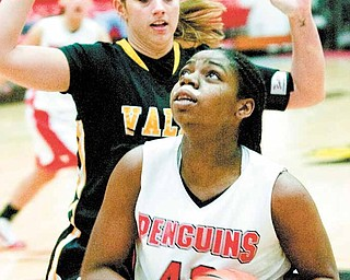 YSU's Brandi Brown looks for a shot during a game against Valparaiso on Jan. 14.
