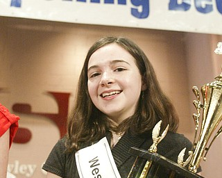 William D. Lewis The VindicatorMegan Winters, 3rd place winner in Vindicator Spelling Bee.