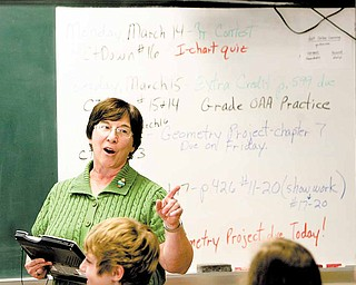"Debbie Haverstock, a math teacher for 36 years at Canfield Village Middle School, is retiring at the end of this school year. She has used her ability to play trumpet and employed other unexpected teaching methods over the years. ""I'm as crazy as seven graders,"" she said."