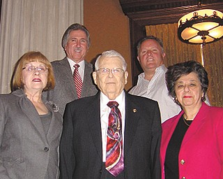 Among those involved in the membership drive being conducted by Stambaugh Pillars are, from left, Barbara Banks, committee member; Phil Cannatti, executive director of Stambaugh Auditorium; Leland Clegg, advertising chairman; David Armstrong, committee member; and Carol Desmond, membership chairwoman.