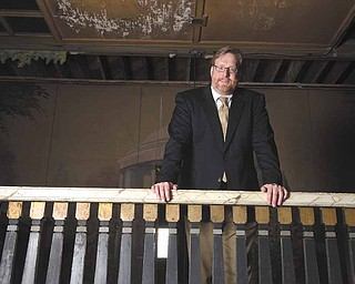 The Mahoning Valley Historical Society has done more recently to attract people in their 20s and 30s, says Bill Lawson, executive director, right. With him is Paul Hagman, 28,  a MVHS member for about five years and Young Leaders Advisory Board chairman.