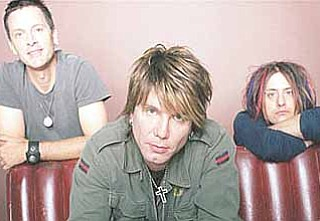 The Goo Goo Dolls are, from left, John Rzeznik, Mike Malinin and Robby Takac.