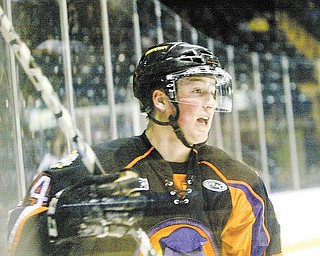 Ty Loney is seen here playing a recent game at the Covelli Centre