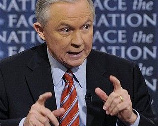"""In this photo released by CBS, Sen. Jeff Sessions, ranking Republican on the Senate Budget Committee, discusses last week's budget deal and the debt ceiling on CBS's """"Face the Nation"""" in Washington Sunday, April 10, 2011."""