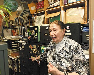 Ann Harris, a Youngstown State University professor, has an office and two storage rooms with stacks of files and drawers full of information about abandoned mines in Ohio and Pennsylvania. She's working weekly with a university archivist who will make sure the information is properly catalogued and kept.