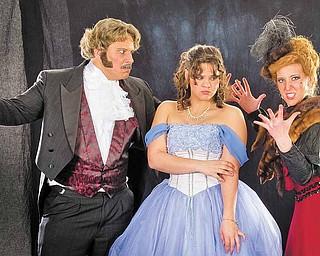 'Phantom' leads are Adam Shonce as Piangi, Julia Harris as Christine, Valerie Weingart as Carlotta.