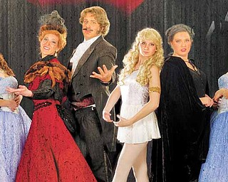 "The West Branch ""Phantom"" cast includes Nick Caruso as The Phantom, Kaylee Yutzy as Christine, Valerine Weingart as Carlotta, Adam Shonce as Piangi, Megan Fluharty as Meg, Morgan Zamarelli as Madame Giry, Julia Harris as Christine and Evan Park as Raoul."