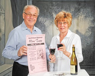 Wine time: The Austintown Optimist Club is having its annual wine taste Friday at the Saxon Club, 710 S. Meridian Road, Austintown. Tickets cost $35 per person. Nancy and Richard Stoy, club members, above, are ready to enjoy a glass of wine. For ticket information call 330-793-7122.