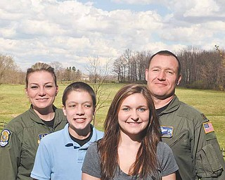 """Lauren and Martin Tancer, 16 and 13, respectively, of Sewickley, Pa., live weekends in East Palestine with their father, Maj. David Andrew """"Drew"""" Tancer, director of operations for the 757th Squadron of the 910th Airlift Wing at the Youngstown Air Reserve Station, and their stepmother, Tech. Sgt. Skye Tancer, a flight engineer with the 757th. Lauren is a member of the national Air Force Reserve Teen Leadership Council."""