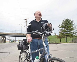 John Brown, a Warren resident and city councilman, is one person who's opted to bike to work instead of driving. He's pedaled his bike to his job at Thomas Steel Strip Corp., a 5-mile ride, for much of the past five years.