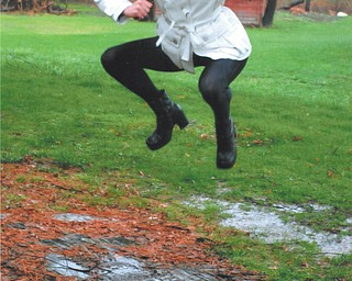 The cancellation of a Mahoning County Track Meet due to a rainfall turned Canfield High School senior high jumper Leanna Hartsough into a puddle jumper.