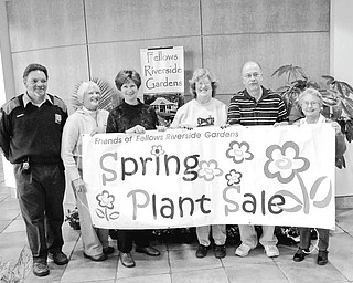 It is time to plant: Members of the Friends of Fellow Riverside Gardens Spring Plant Sale Committee want everyone to know it is time to purchase plants and have them ready to be placed in the garden when the sun comes out. The Friends will have a variety of annuals, herbs, vegetables, bulbs, shrubs and trees for sale from 9 a.m. to 7 p.m. Friday and 9 a.m. to 3 p.m. Saturday at the Davis Center at Fellows Riverside Gardens, 123 McKinley Ave., Youngstown. Volunteers, master gardeners and the knowledgeable staff at the gardens will be available to answer gardening questions. Holding a sign to attract gardeners or would-be gardeners to the sale are, from left, Rex Luckage, Sara Scudier, Janet Yaniglos, Linda and Stan Vuletich, and Mary Mihalick, committee members. There will be a preview showing and sale for members of the Friends from 4 to 7 p.m. Thursday.