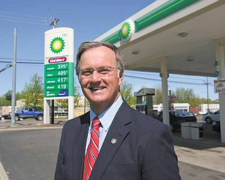State Rep. Ronald V. Gerberry of Austintown, D-59th, plans to introduce legislation that would create a state commission that would review what gasoline companies charge and require them to justify the prices. Gerberry announced the proposal at a BP station in Liberty Township.