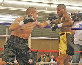 Jake Guiriceo, left, shown in action against James Hope in a fight on October 17, 2009, is in limbo for Saturday's scheduled fight in Campbell. His scheduled opponent has pulled out.